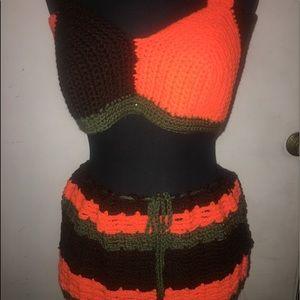 Skirt an top crochet